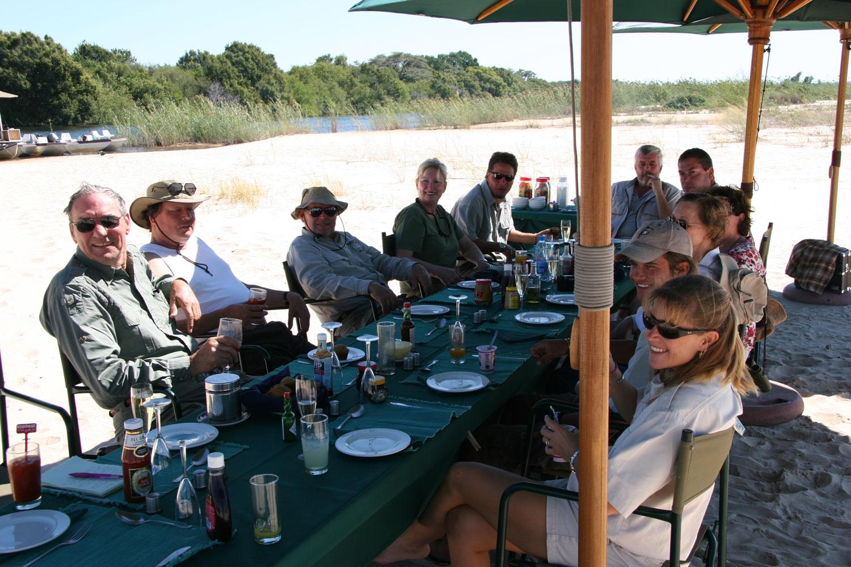 Zambezi River Tiger Fishing Safaris - Beach breakfast